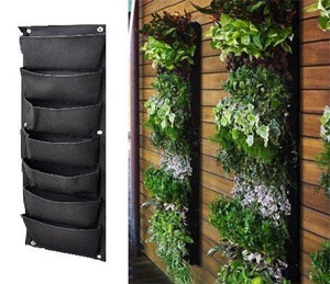 7 Pocket Vertical Garden Kit Hanging on Wall