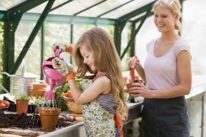 carol and sylvia gardening
