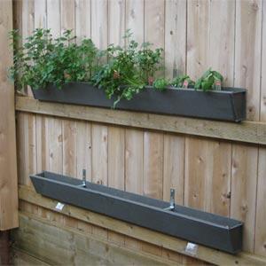 howto make a rain gutter garden