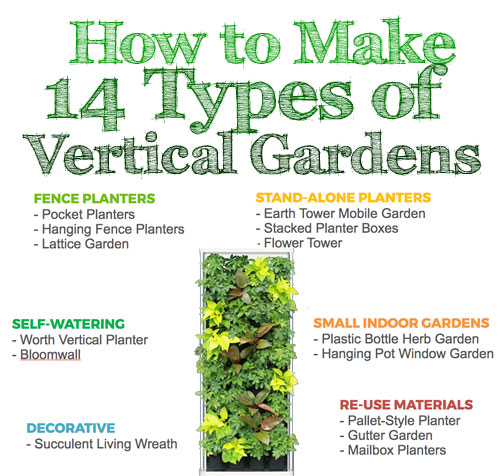 How to Make 14 Types of Vertical Gardens