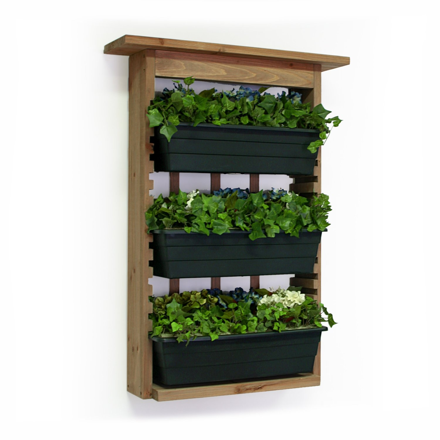 Vertical gardens with slide out planters Indoor living wall herb garden
