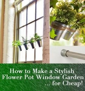 How to Make a Flower Pot Window Planter