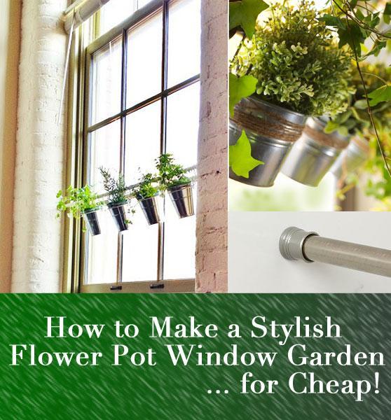Diy Hanging Flower Pot Window Garden 1 2 3