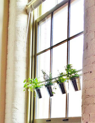 Diy hanging flower pot window garden 1 2 3 - How to hang plants in front of windows ...