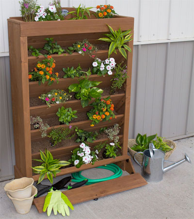 Cedar Vertical Planter