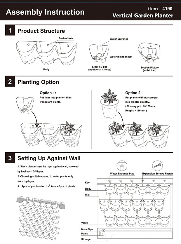Vertical Planter Assembly Instructions