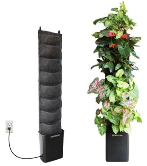 Indoor Vertical Gardening with Automatic Watering. Florafelt Indoor Pocket  Planter with Automatic Irrigation
